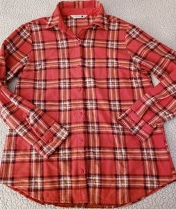 RIDERS BY LEE FLANNEL BUTTON-DOWN TOP ~ SIZE SMALL